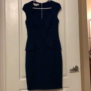 Blue peplum dress
